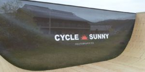 CYCLE SUNNY様 スケートランプ幕制作1